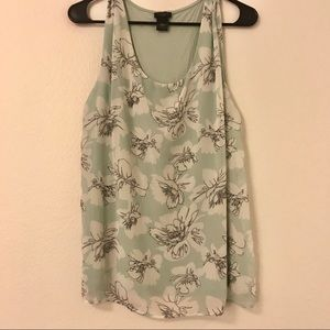 Ann Taylor factory - sleeveless floral top